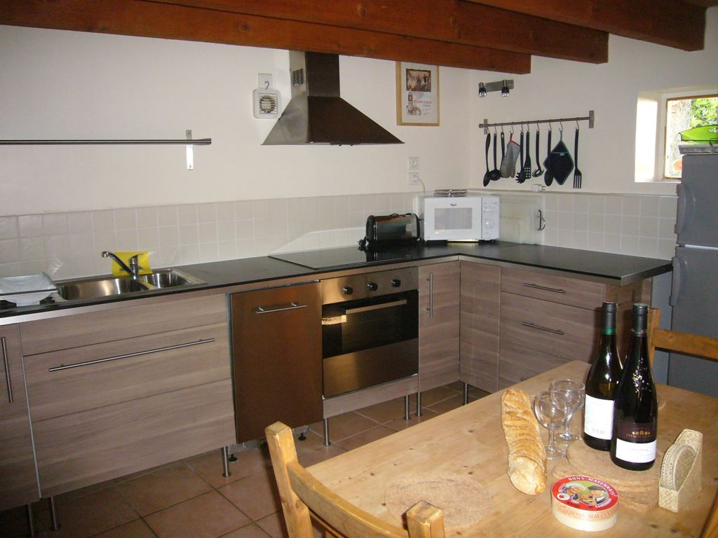 Kitchen at La Roseraie